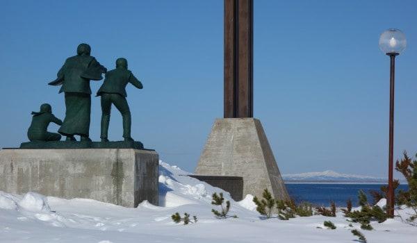 Statue og udsigt